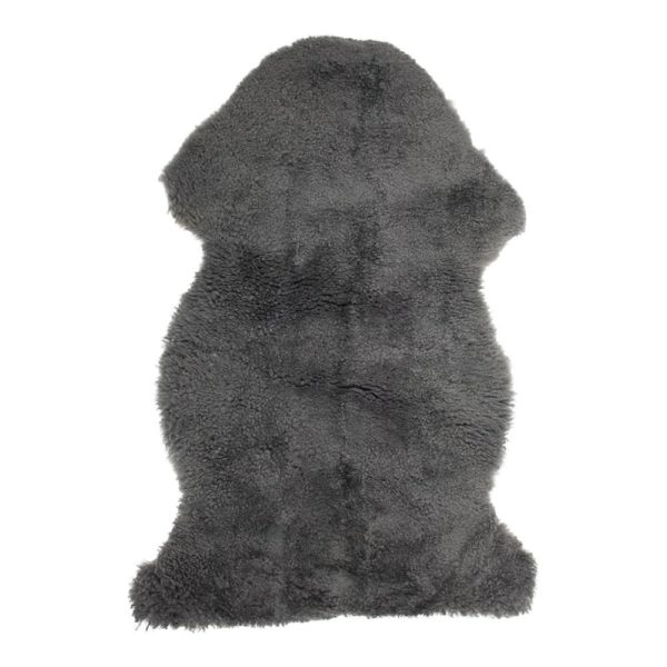 Fur New Zealand Sheep Grey 100cm (ovis Aries) 100% natural / leather - LifeDeals