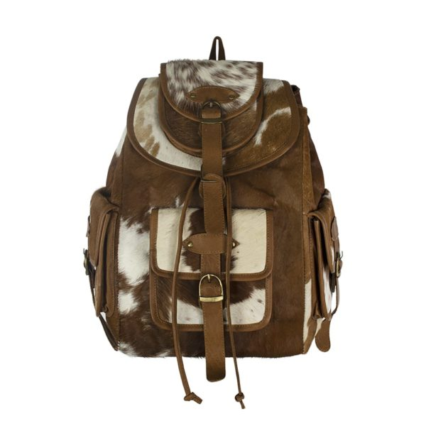 Backpack Brown Cow (bos Taurus Taurus) leather - LifeDeals